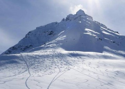 Ski-touring at Three Guardsmen in Haines Pass