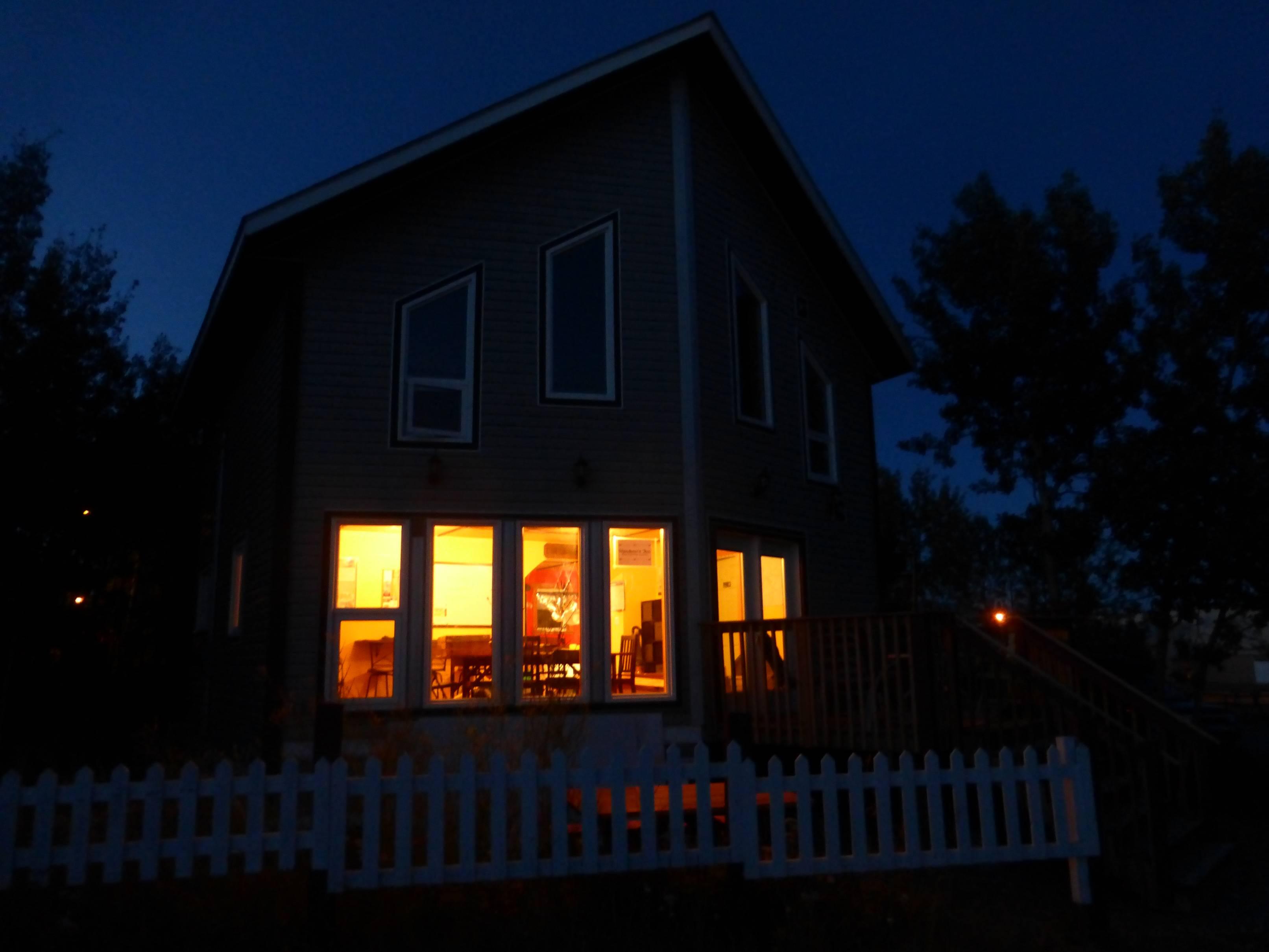 hostel at night