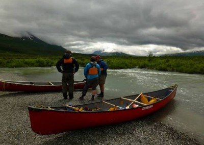 Paddling Goat Creek in Haines Pass