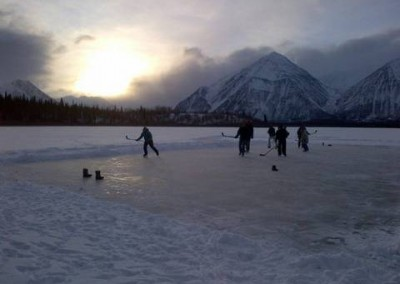 Pond Hockey near Kathleen Lake
